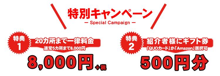 特別キャンペーン!ストリートビュー撮影20カ所まで8,00円詳細ページ